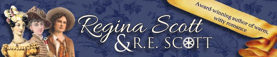 Homepage of historical romance author Regina Scott