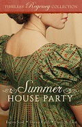 cover for Summer House Party from Mirror Press, featuring the Regency novella An Engagement of Convenience by Regina Scott